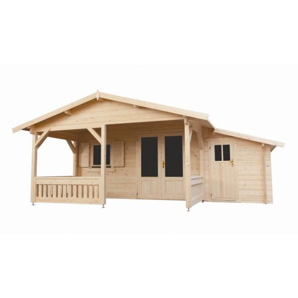 Gartenhaus Modell 4x4+3Z