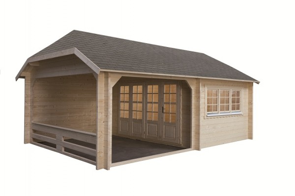 gartenhaus modell w 4x3 3 440x645 cm incl vorbau 50mm stark blockhaus peter peters viktor. Black Bedroom Furniture Sets. Home Design Ideas