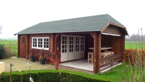 Gartenhaus Modell Wolfskap 4x3+3A