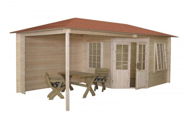 Gartenhaus Modell 3055Z, 576 x 300 cm