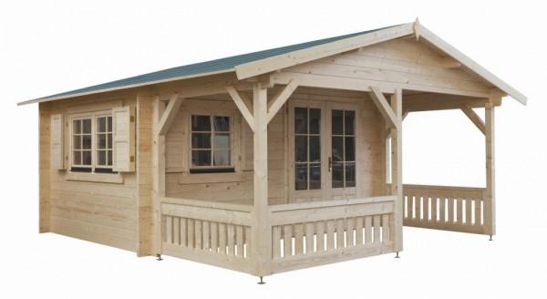 Gartenhaus Modell 4x3+3