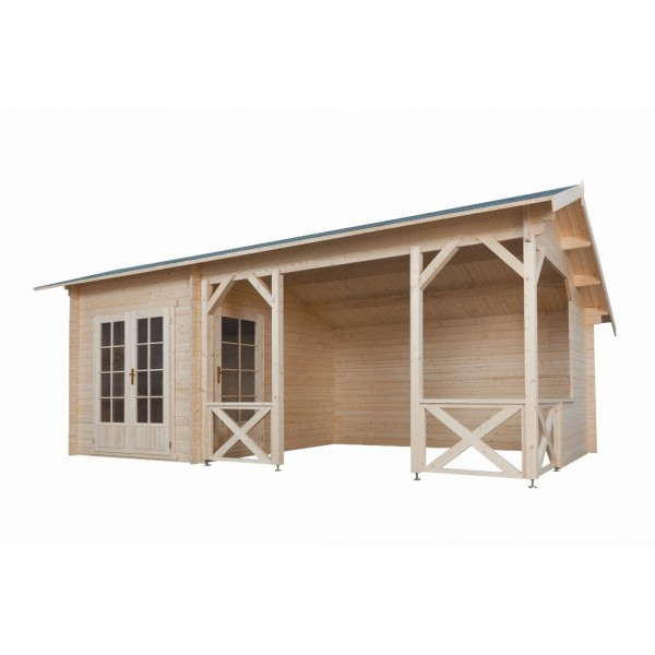 Gartenhaus Modell 6732, 320 x 667 cm